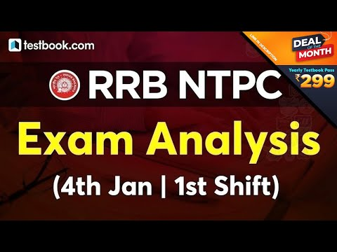 RRB NTPC Exam Analysis (4 January 1st Shift) | RRB NTPC Today Paper Review + Questions Asked