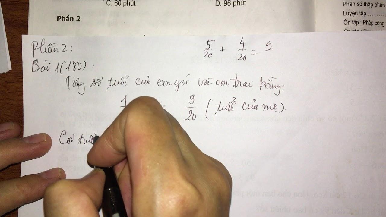 Luyện tập chung (trang 179, 180) – toán lớp 5 sách giáo khoa