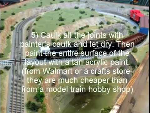 More on making foam mountains for your railroad | Model