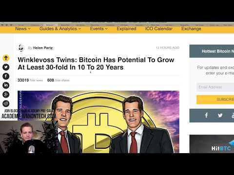 Bitcoin Price 2018, Winklevoss, Bitconnect LAWSUIT, ECB hates crypto? Wall Street Ethereum