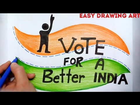 How To Draw Vote For A Better India Poster Youtube