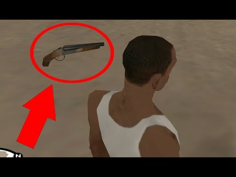 How to get all the Sawn-Off Shotguns at the very beginning of the game - GTA San Andreas