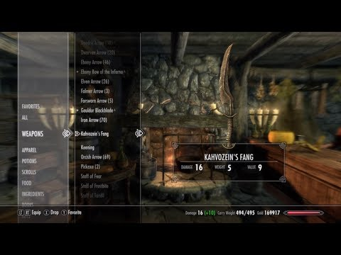 Skyrim: How to get Kahvozein's Fang *COLLECTS DRAGON HEARTSCALES* (Unique Weapons/Armor #23)