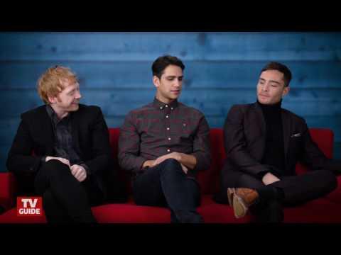 Ed Westwick, Rupert Grint and Luke Pasqualino promoting Snatch