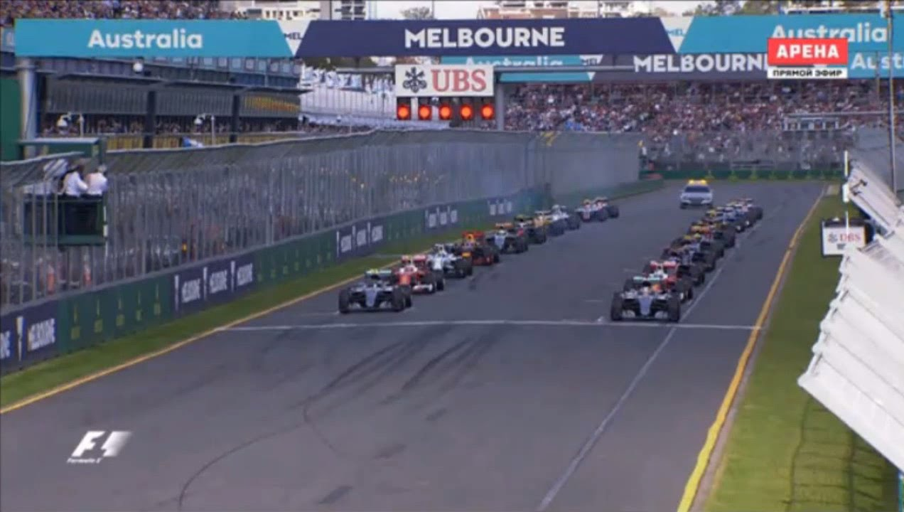 F1 2016 Australian GP Race START and First Lap - YouTube