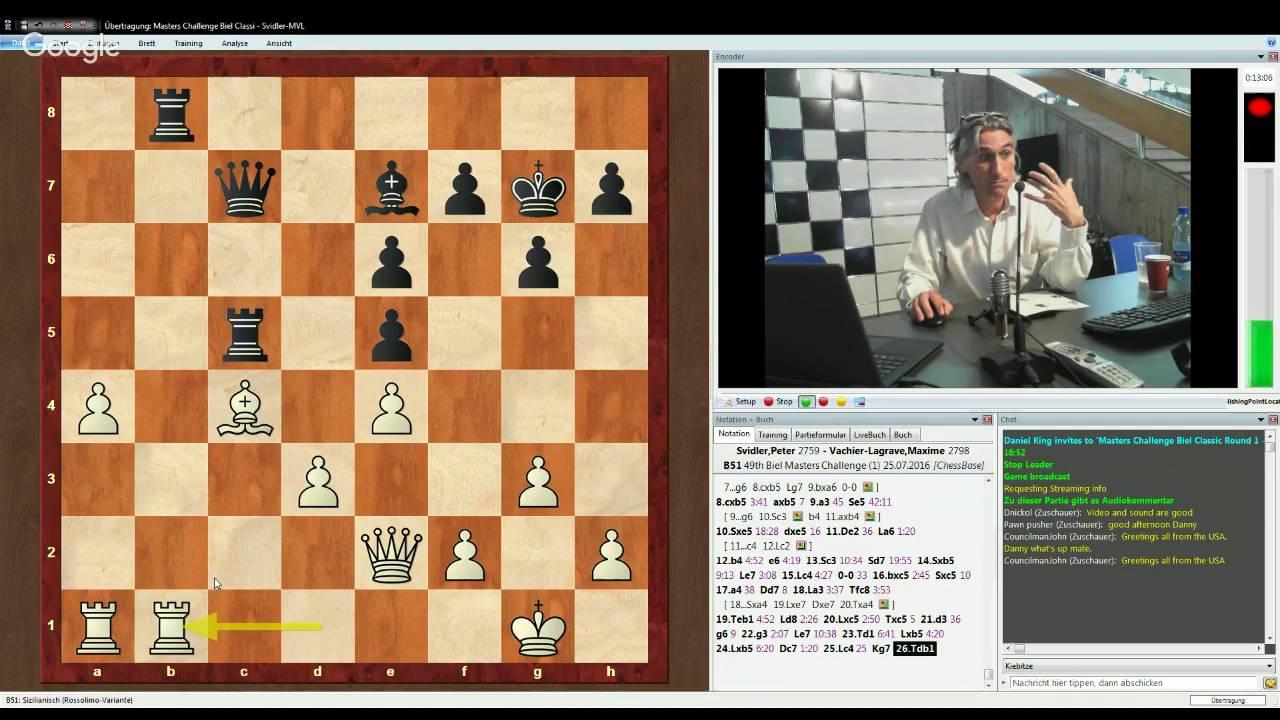 Biel Masters Challenge 2016 Maxime Vachier-Lagrave v Peter Svidler  Classical Game 1