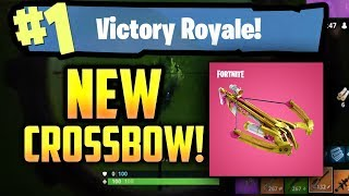 **NEW CROSSBOW** INSANE NEW WEAPON & SKINS in FORTNITE BATTLE ROYALE!