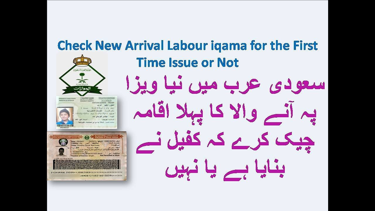 How to Check New Arrival Labour iqama for the First Time Issue or Not in  Saudi Arabia