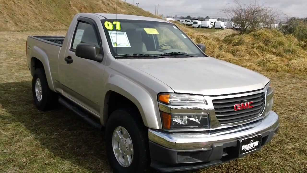 Used Car For Sale Maryland 2007 Gmc Canyon Sl 4wd Warranty Youtube
