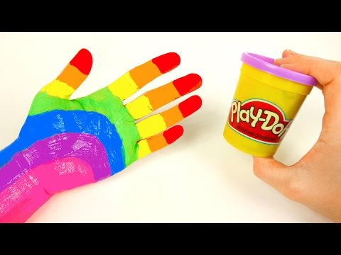 Thumbnail: Learn Rainbow Colors with Play Doh and Body Paint
