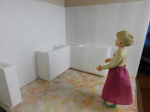 Dollhouse Miniature Kitchen Cabinets