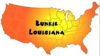 how to say or pronounce usa cities bunkie louisiana
