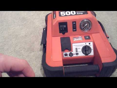 Black and Decker JUS500IB 1000 peak amps Jump Starter with Built in Compressor