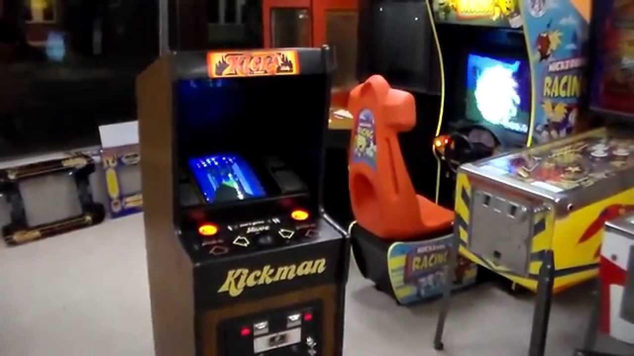 Midway KICKMAN Arcade Game Pac-Man Cameo - Cabaret Cabinet ...