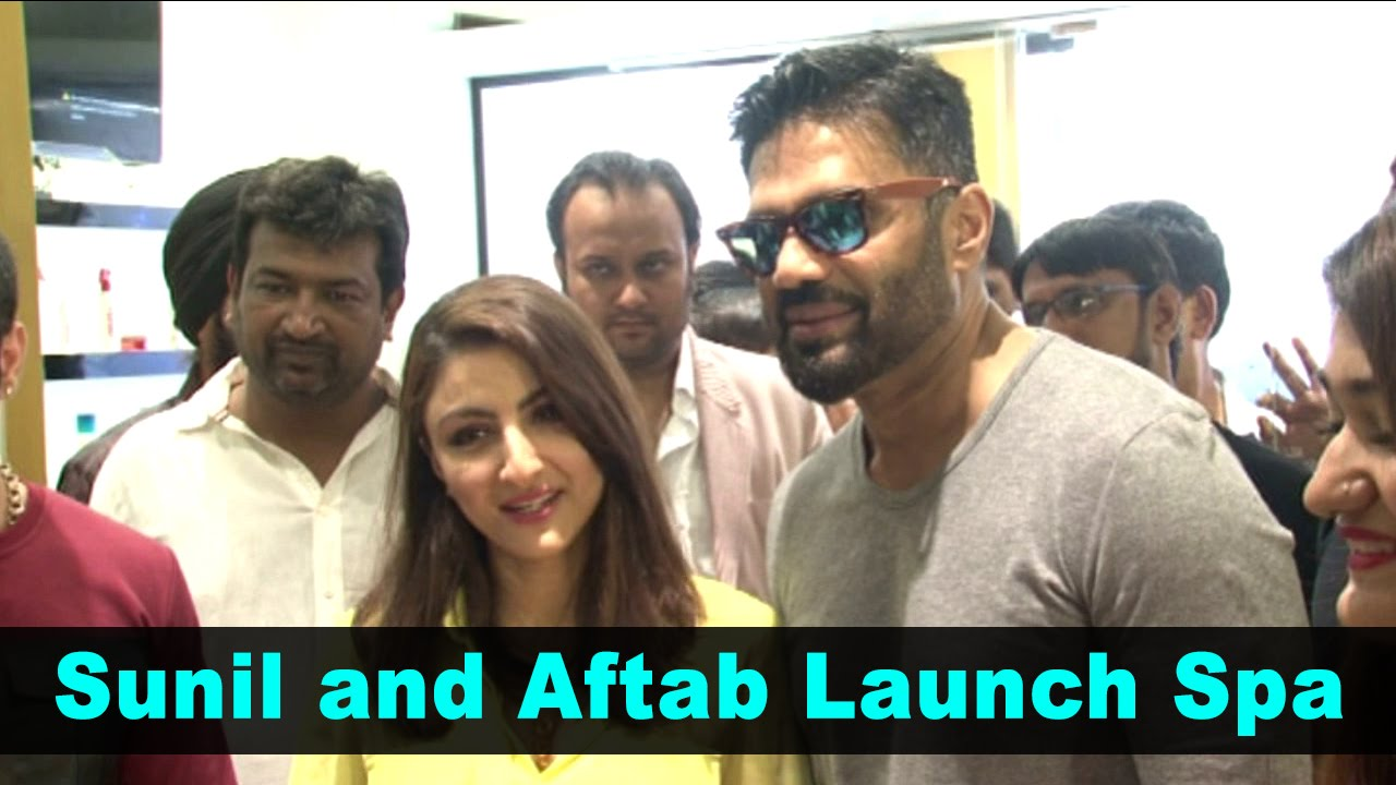 Latest Bollywood News - Sunil and Aftab Launch Spa - Bollywood Gossip 2017