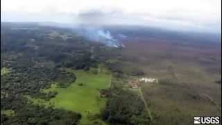 Lava flow on Friday, Oct. 10
