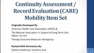CARE Item Set: Mobility