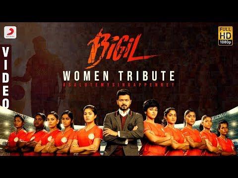 Download Lagu  Bigil Women Tribute | Salute My Singappenney | Singappenney  | Bigil | Thalapathy Vijay Mp3 Free