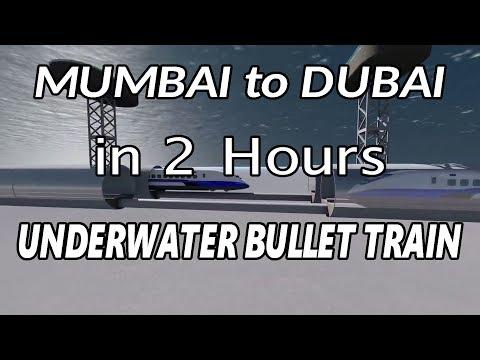 INDIA to UAE Underwater Bullet Train || Mumbai to Dubai Underwater Bullet Train