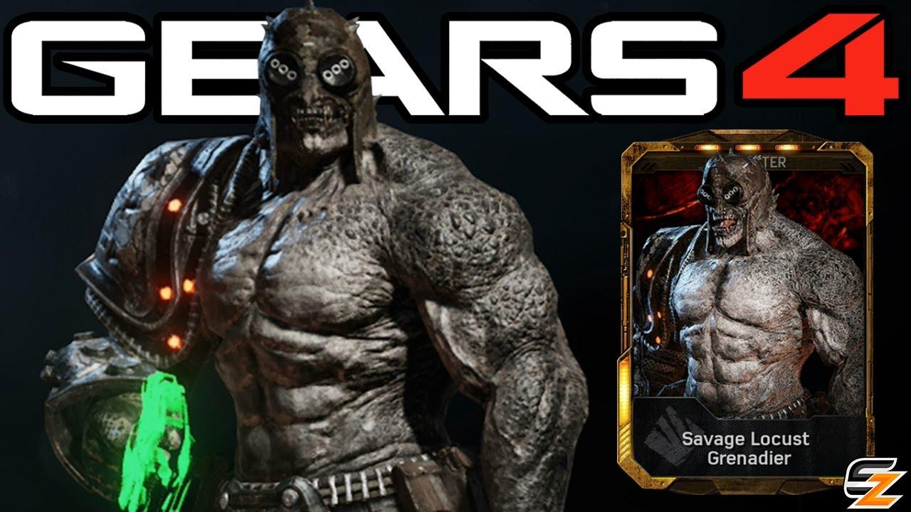 Gears Of War 4 Savage Locust Grenadier Character