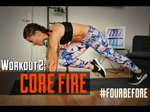 At-Home ABS & Core Training | #FOURBEFORE Workout 2 | Kym Nonstop
