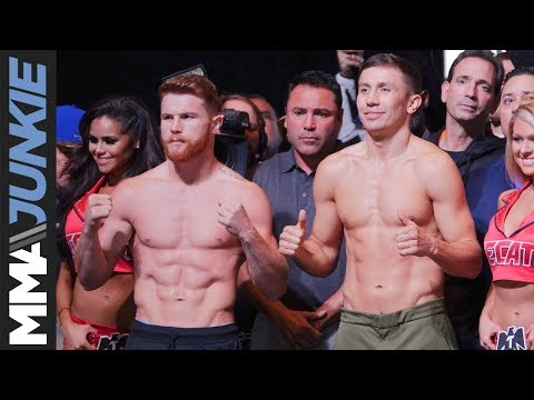 Canelo Vs GGG Weigh-in Highlight