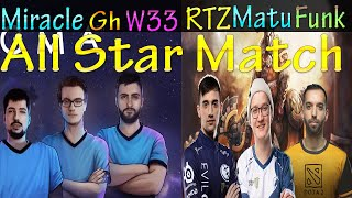 Funkefal With Arteezy and Matumbaman Vs Miracle-, GH and W33. All Star Match!