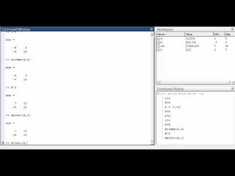 Introduction to Matlab (Operations on Arrays)