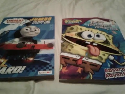 Thomas & Friends And SpongeBob SquarePants Jumbo Coloring And Activity Book  Comparison