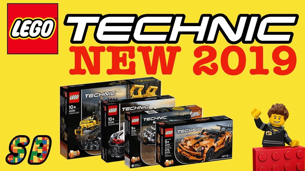 all new lego technic 2019 sets winter wave youtube. Black Bedroom Furniture Sets. Home Design Ideas