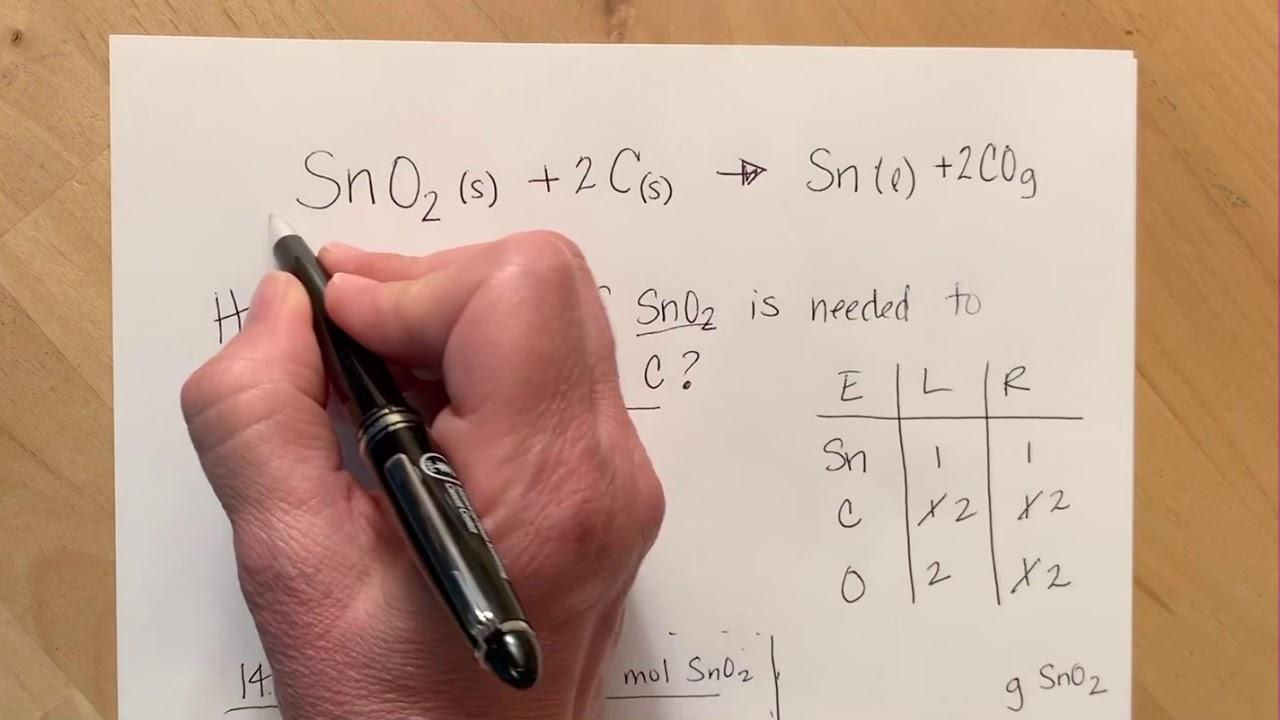 Stoichiometry Answer Key 2 - YouTube