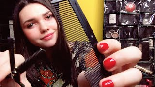 ✂️ASMR HAIRCUT & SHAMPOO TREATMENT | Trimming, Texturizing, Brushing, Combing | PERSONAL ATTENTI