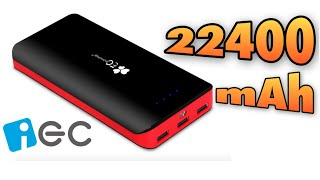 Batería externa de 22400 mAh EC Technology