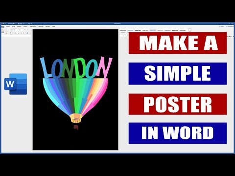 How To Make A Poster In Word | Microsoft Word Tutorials