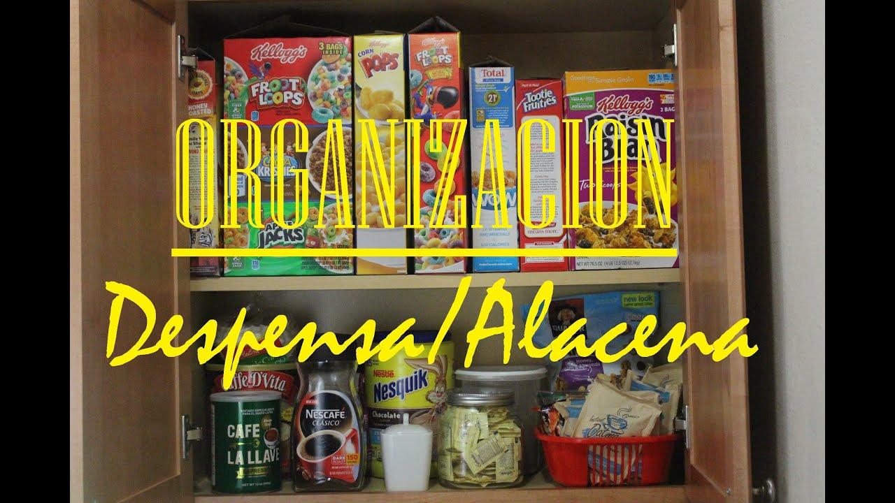 Hogar organizacion de alacena misslizchannel youtube - Alacena de cocina ...