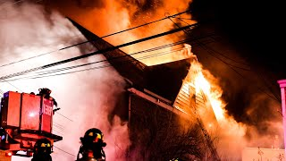 *Heavy Fire* [ Queens 3rd Alarm Box 9368 ] Inferno Rips Throughout Private Dwelling; Frozen Hydrants