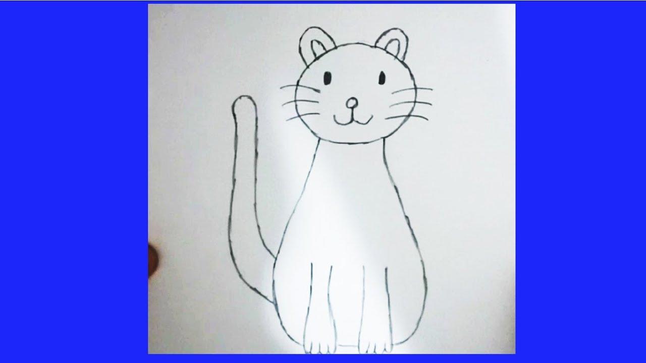 Cok Kolay Kedi Cizimi Youtube