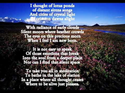 Reflections -nature poems - YouTube