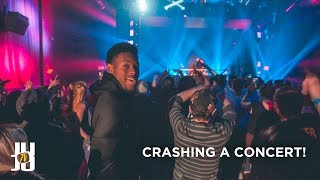 JuJu Smith-Schuster Crashes a Concert!