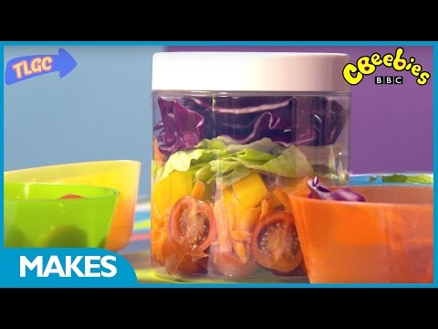 CBeebies Makes | How to make a salad in a...