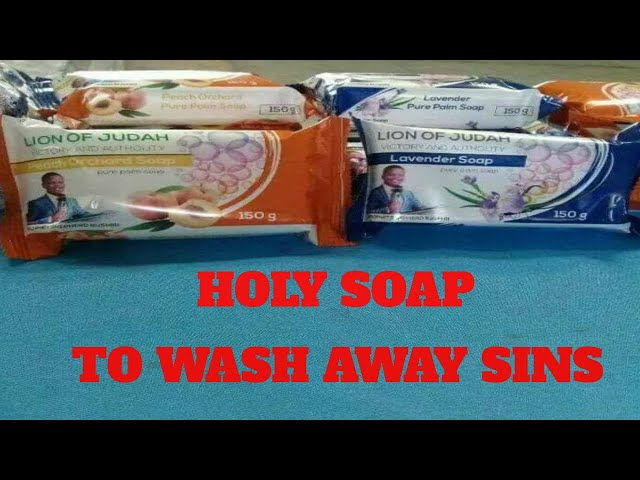 Prophetic Soap to Wash Away Sins