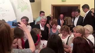 Смотреть видео Мэр Москвы Сергей Собянин встретился с жителями Выхино-Жулебино онлайн