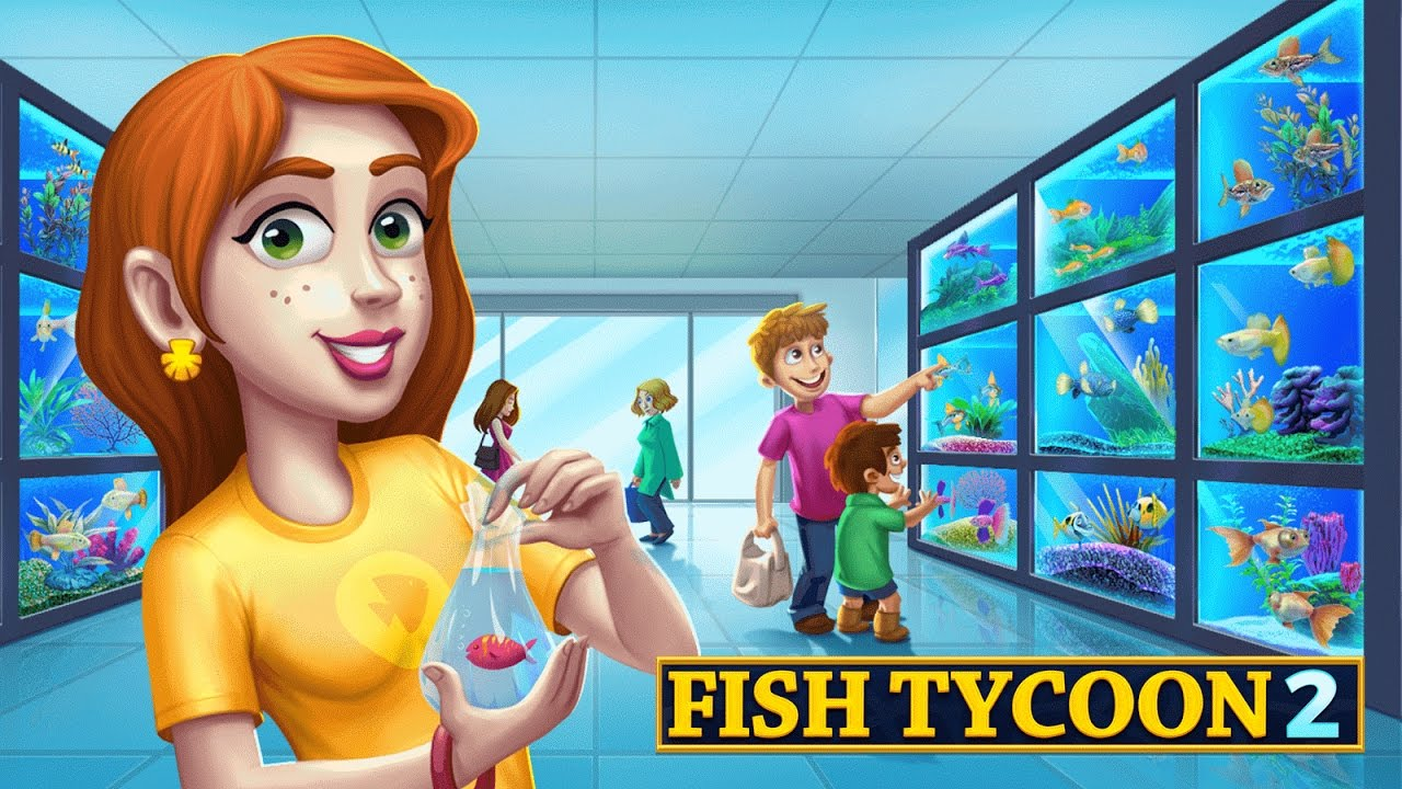 Fish tycoon 2 virtual aquarium android gameplay youtube for Fish tycoon 2 cheats