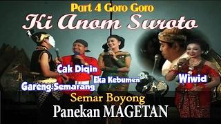 Wayang Kulit - Ki Anom Suroto Lakon Semar Boyong Magetan IV Goro goro Cak diqin dan gareng semarang