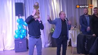 Левски Лукойл отпразнува спечелената купа на България