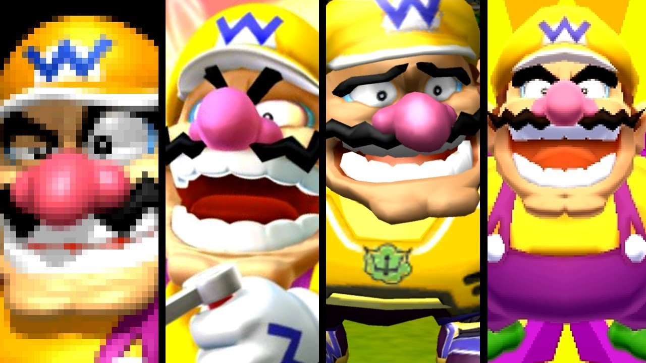 Super Mario Evolution of WARIO'S VOICE 1997-2017 (N64 to Switch)
