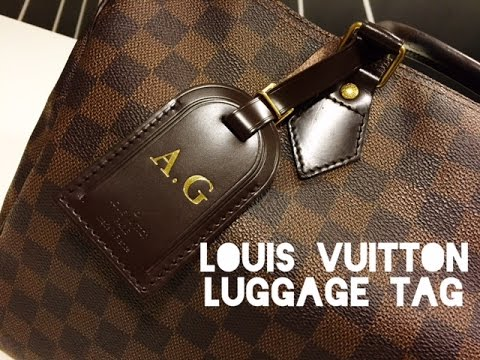 857540f724c3 LOUIS VUITTON LUGGAGE TAG - How to put it on! - YouTube