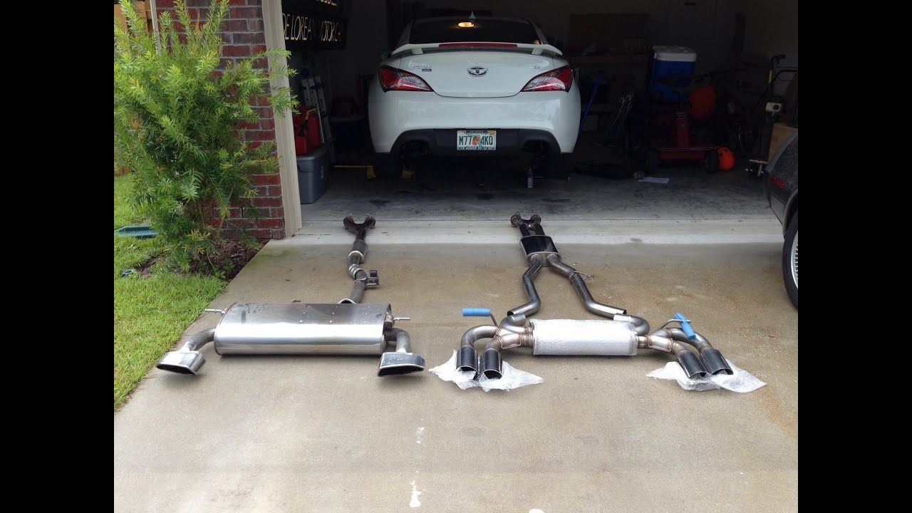 2013 Hyundai Genesis Coupe For Sale >> Genesis Coupe stock vs Magnaflow sound - YouTube