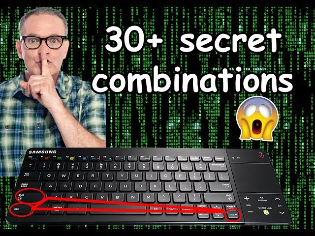 +30 keyboard combinations makes you a professional