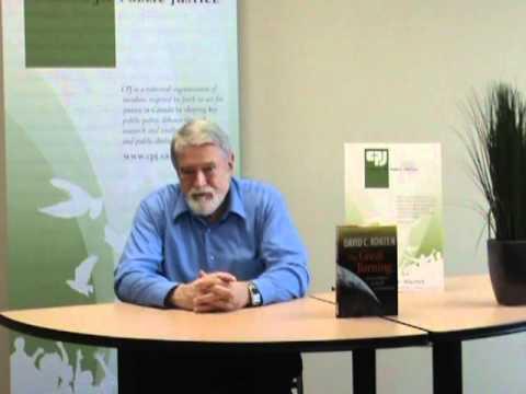 David Korten visits CPJ as part of his Canadian speaking tour